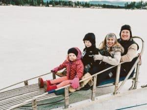 Dog sled Lake Placid-Top 5 Family Ski Destinations near NYC